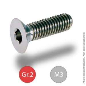 Titanium bolts - DIN 7991 - M3 - Grade 2