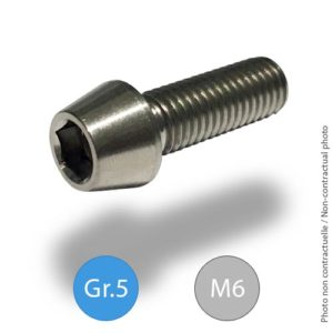Titanium tapered socket head screw -M6 - Grade5