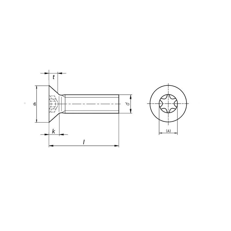 ISO14581 titanium screws drawing - TITANIUM SERVICES